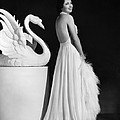 Kay Francis Modeling White Chiffon Poster by Everett