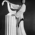 Kay Francis Modeling White-crepe Poster by Everett