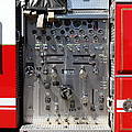 Kensington Fire District Fire Engine Control Panel . 7D15856 Print by Wingsdomain Art and Photography