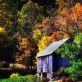 Kent Hollow II - New England rustic barn Poster by Thomas Schoeller