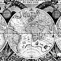 Keplers World Map, Tabulae Print by Science Source