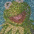 Kermit Mt. Dew Bottle Cap Mosaic Poster by Paul Van Scott