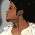 King Of Pop King of The Universe Print by Diva Jackson
