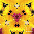 Kitty Petals Print by Cheryl Young