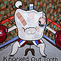 Knocked Out Tooth Print by Anthony Falbo