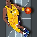 Kobe Bryant 24 Print by Walter Oliver Neal