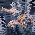 Koi Pond Poster by Donald Maier