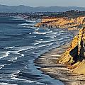 La Jolla Cliffs Over Blacks Poster by Russ Harris