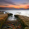 La Jolla Reef Sunset 2 Print by Larry Marshall
