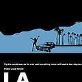LA Night Poster Print by Irina  March