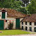 La Pillebourdiere old farm outbuildings in the Loire Valley Print by Louise Heusinkveld