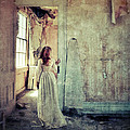 Lady in an Old Abandoned House Poster by Jill Battaglia