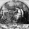 Lady Liberty Mourns During The Civil War Poster by War Is Hell Store