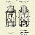 Lamp Pomeroy 1894 Patent Art Poster by Prior Art Design