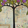 Landscape Art Tree Painting Past Visions Poster by Blenda Studio