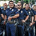 LAPD Safeguarding Lives Poster by Chris Yarzab