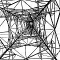 Large Electricity Powermast Poster by Yali Shi