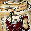 Latte by MADART Print by Megan Duncanson
