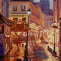 Le Consulate Montmartre Print by David Lloyd Glover