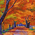 Leafy Lane Print by David Lloyd Glover