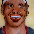 Lebron James Print by Pete Maier