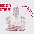 LeBron James Print by Toni Jaso