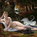 Leda and the Swan Poster by Francois Edouard Picot