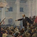 Lenin 1870-1924 Declaring Power Print by Everett