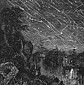 LEONID METEOR SHOWER, 1833 Print by Granger