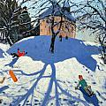 Les Gets Print by Andrew Macara