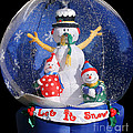 Let it snow Print by Christine Till