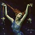 Libra from Zodiac series Poster by Dorina  Costras