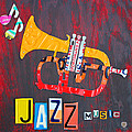 License Plate Art Jazz Series Number One Trumpet Print by Design Turnpike