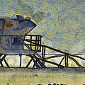 Lifeguard Station 17 Poster by Ernie Echols