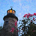 Lighthouse N Pink Print by Emily Stauring