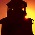 Lighthouse Sunset Print by Joann Vitali
