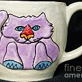 Lightning Nose Kitty Mug Print by Joyce Jackson