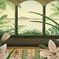 Lilies in Paradise Poster by Cathy Cleveland