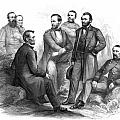 Lincoln and His Generals Black and White Print by War Is Hell Store
