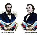 Lincoln and Johnson Poster by War Is Hell Store