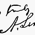 LINCOLNS AUTOGRAPH Poster by Granger
