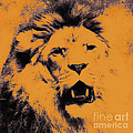 Lion Pop Art Print by Angela Doelling AD DESIGN Photo and PhotoArt