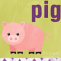 Little Pig Print by Linda Woods