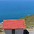 Little Shack At The Point Reyes Lighthouse in California . 7D16020 Print by Wingsdomain Art and Photography