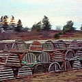 Lobster Traps Print by Jeff Kolker
