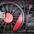 Locomotive Wheel Print by Carlos Caetano