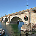 London Bridge Lake Havasu City - The World's Largest Antique Poster by Christine Till