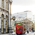 London street with view of Royal Exchange building Poster by Elena Elisseeva