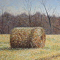 Lone Haybale Print by Patsy Sharpe