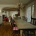 Long Weathered Rustic Table Print by Robert Pisano